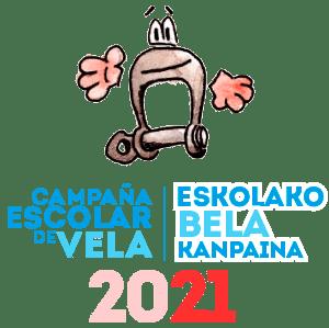 Campaña de Vela Escolar. Federación Navarra de Vela Logo